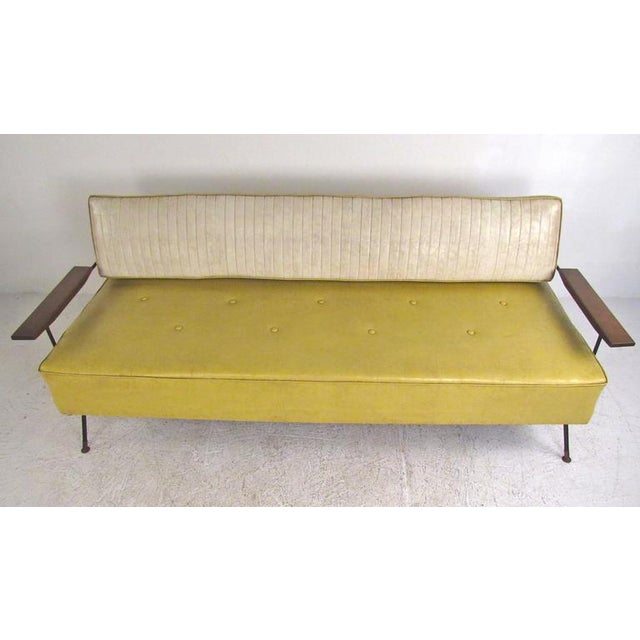 Richard McCarthy for Selrite Mid-Century Vinyl Daybed For Sale - Image 4 of 10