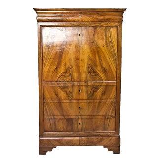 Antique 19th Century French Walnut Secretary Desk For Sale