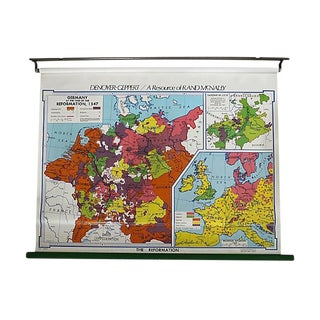 Vintage School Map of Germany For Sale