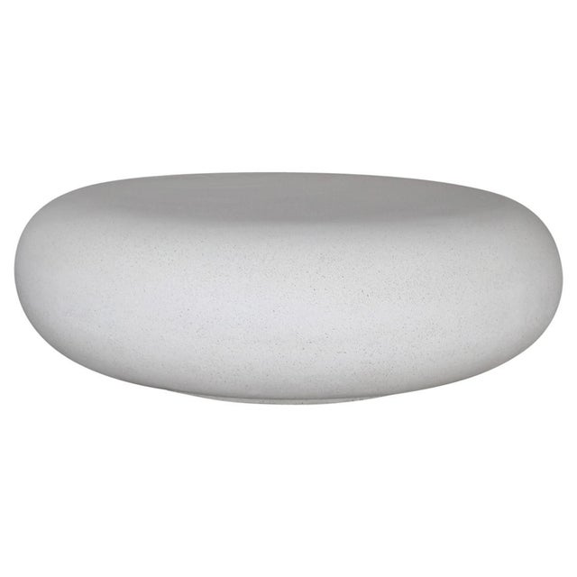 Lightweight Outdoor Cocktail Table in 'White Stone' Finish by Zachary A. Design For Sale In Chicago - Image 6 of 6
