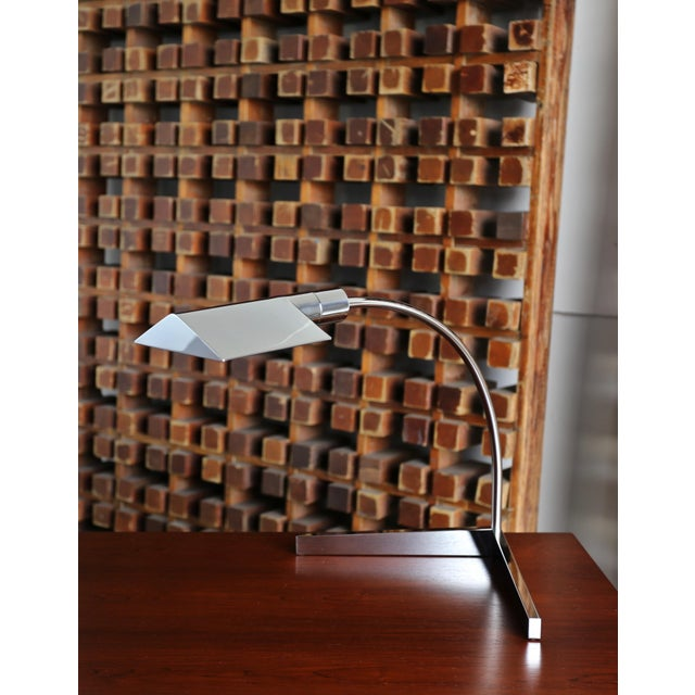 Cedric Hartman 1970s Vintage Cedric Hartman Chrome Table Lamp For Sale - Image 4 of 9