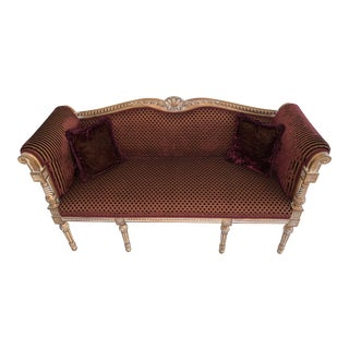 French Louis XVI Settee For Sale