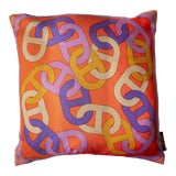 Image of Hermès Circuit 24 Faubourg Pillow Cover For Sale