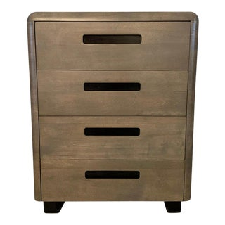 Paul Goldman for Plymodern Pickled Mahogany High Boy Dresser For Sale