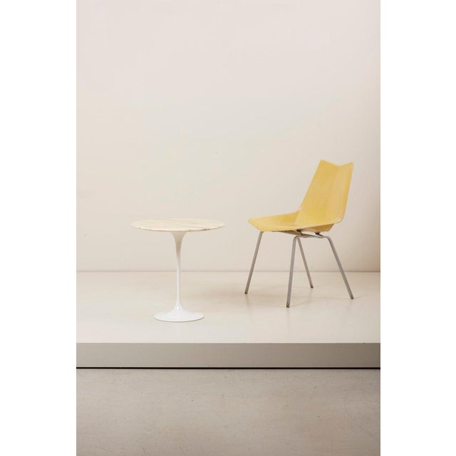 Mid-Century Modern Tulip Side Table With White Marble Top by Eero Saarinen for Knoll International For Sale - Image 3 of 9