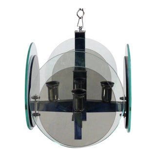 Disc Pendant by Cristal Art For Sale