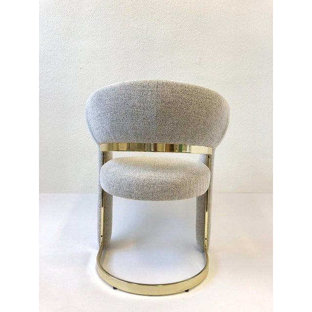 Design Institute of America Brass Dining Chairs - Set of 4 For Sale In Palm Springs - Image 6 of 12