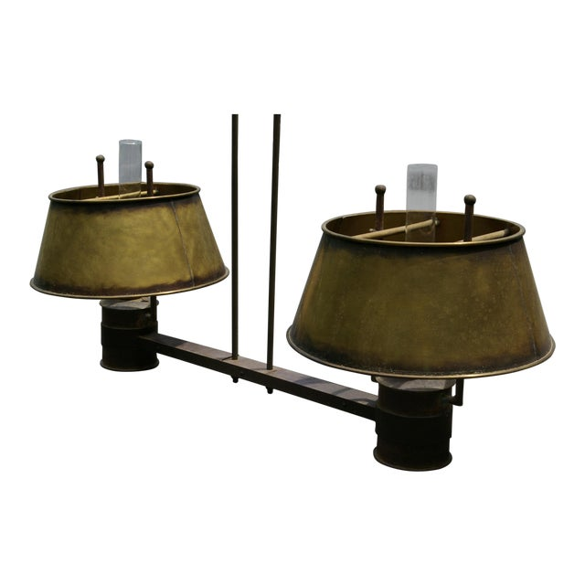 1900's Antique Brass Light For Sale