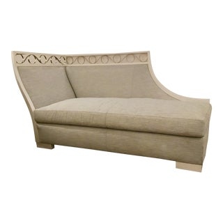 Caracole Modern Prototype Blue-Gray Chaise Lounge For Sale