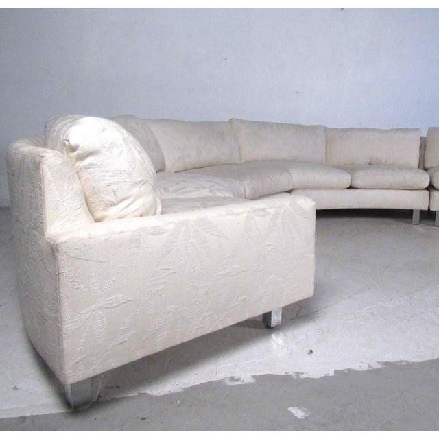 Mid-Century Modern Milo Baughman Mid-Century Circular Sofa For Sale - Image 3 of 10