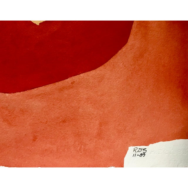 1990s Vintage Abstract Watercolor Painting by Roger Stokes For Sale - Image 5 of 7