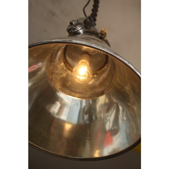 Vintage Industrial Aluminum & Steel Pendant Lamp - Image 5 of 10
