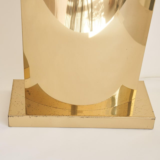 Metal Monumental Curtis Jere Brass Lamps - a Pair For Sale - Image 7 of 8