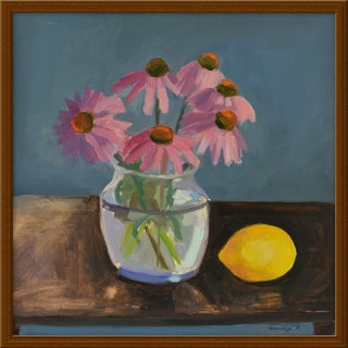 """""""Echinacea With Lemon"""" by Anne Carrozza Remick, 20"""" X 20"""""""
