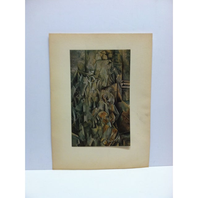 "Mid 20th Century ""Le Violin"" Mounted Print by Georges Braque For Sale - Image 5 of 5"