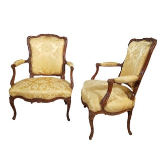 C. 1890 Pair of LXV Arm Chairs For Sale