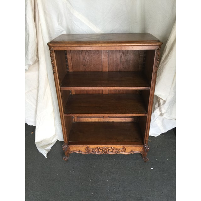 French Country Carved Bookcase - Image 2 of 7