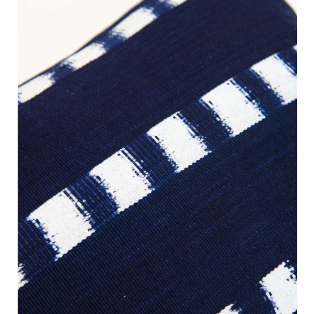 Guatemalan Striped Indigo Handwoven Pillow - Image 2 of 7