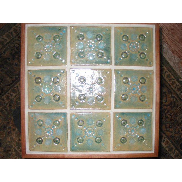 Martz Style Ceramic Top Side Table - Image 3 of 6