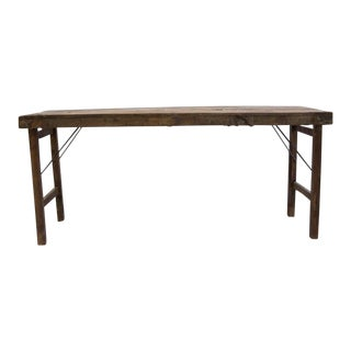 Folding Rustic Vintage Italian Wedding Console Table For Sale