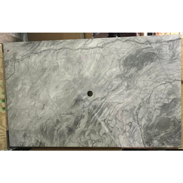 Custom Carrera Marble Island or Counter Top For Sale - Image 9 of 9