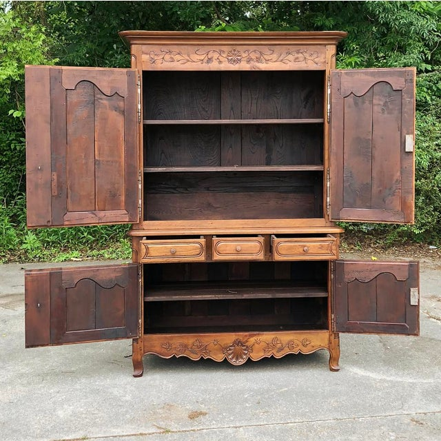 Late 19th Century 19th Century Country French Fruitwood Buffet a Deux Corps For Sale - Image 5 of 13