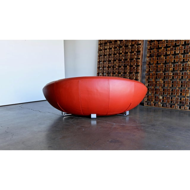 Early 21st Century Jane Worthington DS 152 Red Leather Sofa for De Sede For Sale - Image 5 of 13