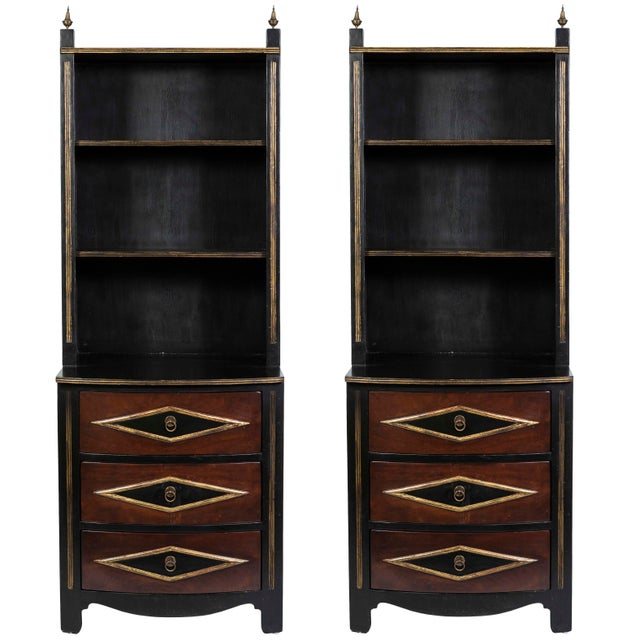 Vintage Chest Drawers With Bookcase Shelving - a Pair - Image 9 of 9