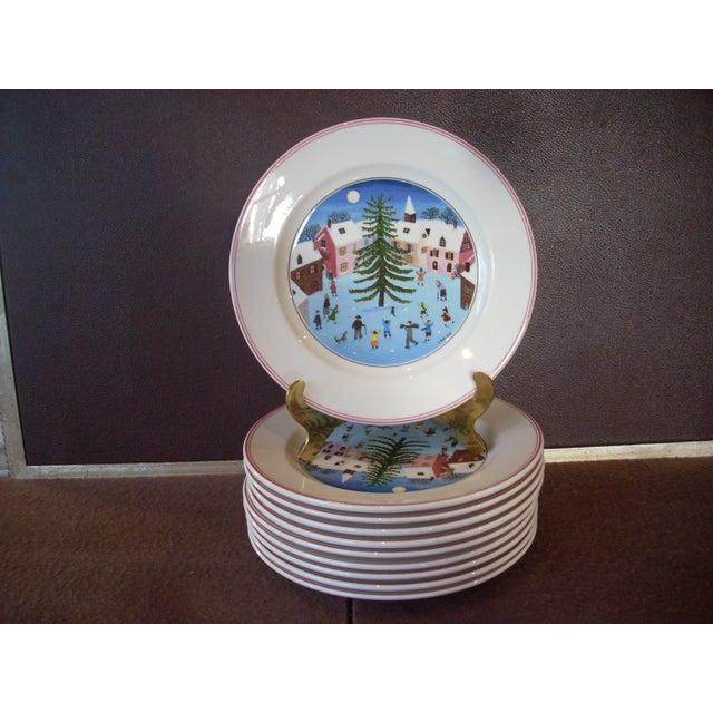 Villeroy & Boch Villeroy & Boch Christmas Salad Plates - Set of 10 For Sale - Image 4 of 4