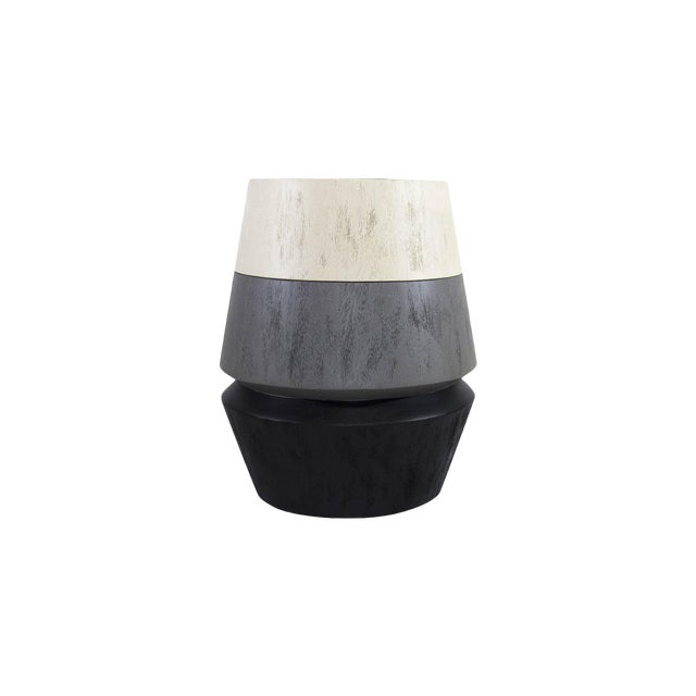 Capirucho Side Table & Stool Tricolor Brushed For Sale