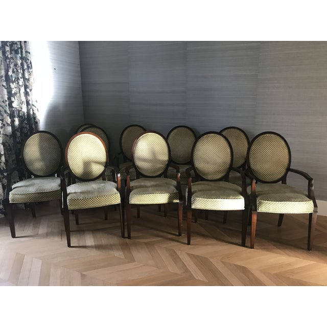 Sensational Nancy Corzine Oval Back Dining Chairs Set Of 10 Gmtry Best Dining Table And Chair Ideas Images Gmtryco