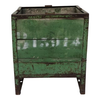 Vintage French Packing Crate Planter For Sale