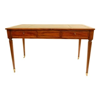 19th C. Louis XVI Style Desk/Leather Top For Sale