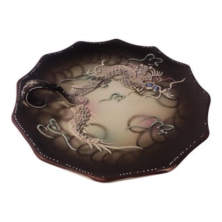 Asian Dragon Serving Plate With Handle
