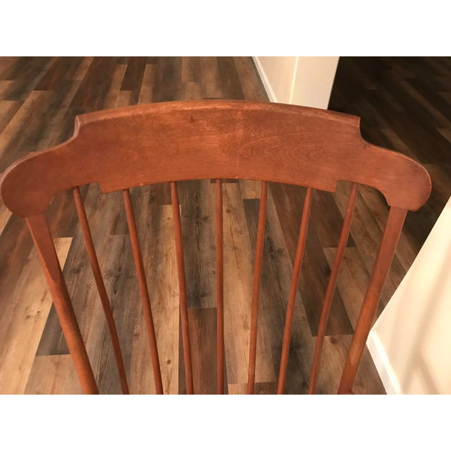 Wood Vintage Wood Rocking Chair For Sale - Image 7 of 13