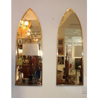 Mid-Century Modern Italian Brass Arched Frame Mirrors Preview