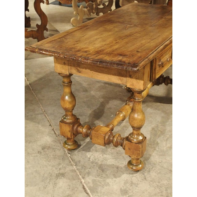 17th Century Basque Country Writing Table With Inset Star For Sale - Image 11 of 13