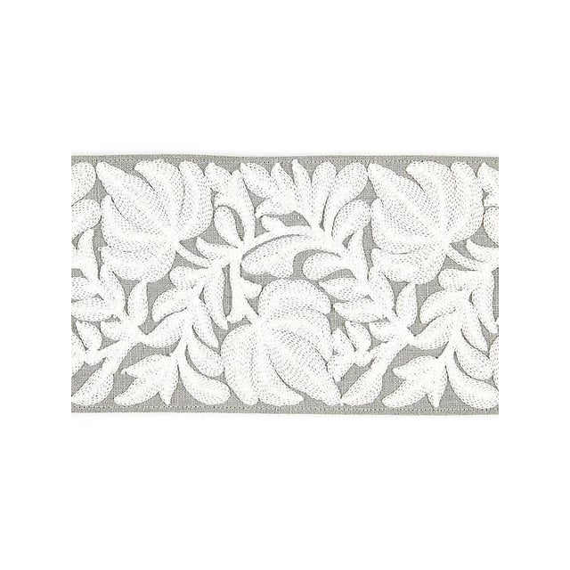 Transitional Scalamandre Coventry Embroidered French Grey Tape For Sale - Image 3 of 3