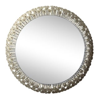 Mid-Century Austrian Mirror by Emil Stejnar for Rupert Nikoll With Glass Blossoms For Sale