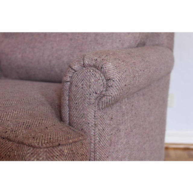 Custom Made Upholstered Lounge Chairs - A Pair For Sale - Image 4 of 8