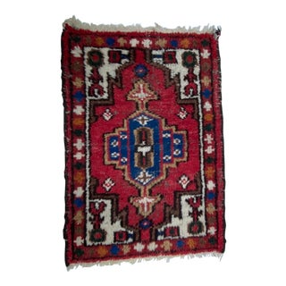 Vintage German Hand Knotted Wool Table Runner/Wall Hanging For Sale