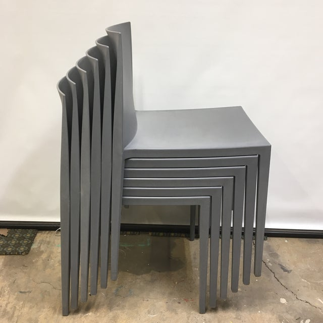 Modernistic Cazzaniga Stackable Chairs - Set of 6 For Sale - Image 12 of 13