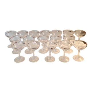 Libbey Glass Co. Champagne Glasses - Set of 17 For Sale
