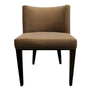 Contemporary Grey Fabric Dining Chair For Sale