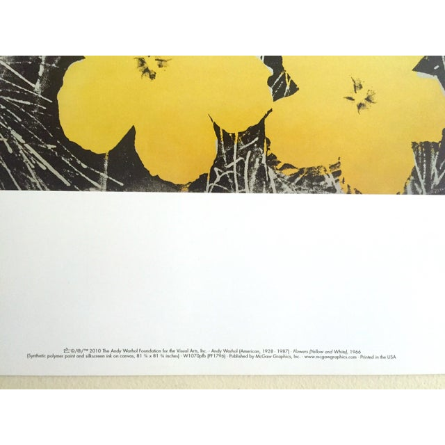 "Paper Andy Warhol Foundation Collector's Pop Art Lithograph Print ""Flowers"" 1966 For Sale - Image 7 of 10"