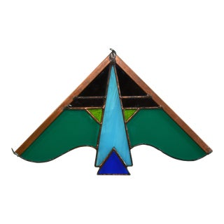Abstract Bird Stained Glass Hanging Window Sun Catcher For Sale