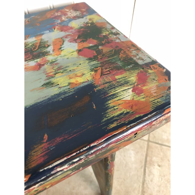 Industrial Bohemian Accent Table For Sale - Image 6 of 9