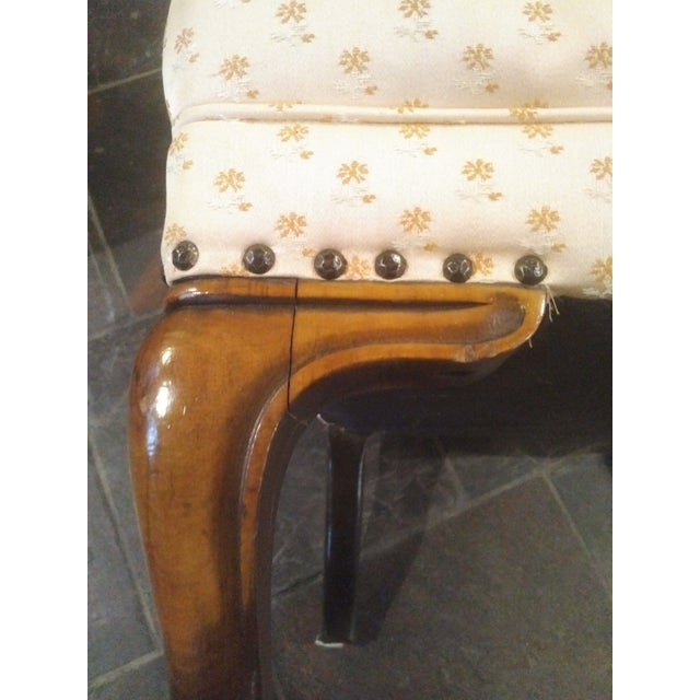 1940s Americana Baker Furniture Light Pink Wingback Armchair For Sale - Image 9 of 12