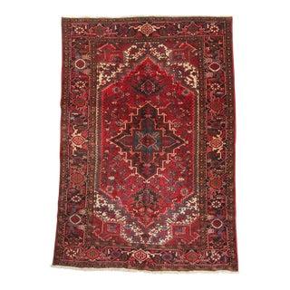 """Antique Authentic Persian Bidjar Area Rug - 6' 1"""" X 9' 4"""""""