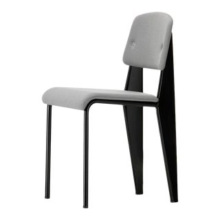 Vitra Standard SR Chair in Iron Grey and Deep Black by Jean Prouvé For Sale